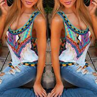 Sexy Fashion Women Summer Loose Sleeveless Vest Casual Tank T-Shirt Blouse Tops