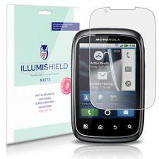 iLLumiShield Matte Screen Protector w Anti-Glare/Print 3x for Motorola SPICE