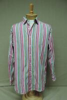 Polo Ralph Lauren button front mens size large L striped long sleeve shirt