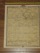 1875 Atlas - Benton County, Iowa Map ORIGINAL - Vinton Belle Plain Blairstown IA