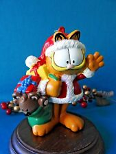 """PAWS Ornament Santa Garfield with bag of toys   4"""" Tall"""