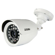 ZOSI CCTV 800TVL Outdoor Security Video Camera White Bullet 20M IR 4.6mm Lens