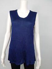 Moss Designs Women's Sweater Vest Deep sapphire Blue Sz L Made in USA