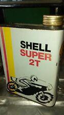 ancien bidon HUILE SHELL SUPER 2T,vintage,garage,moto,scooter,SOLEX