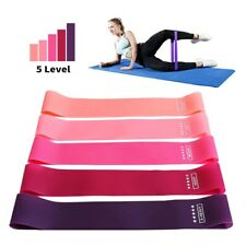 5 pcs set Yoga Resistance Bands Loop Exercise Rubber Pilates Elastic Fitness