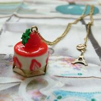 Les Nereides N2 fantasy strawberry cheesecake NECKLACE w/ 14k gold plated chain
