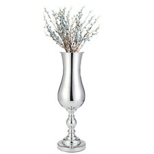 Floor Standing Flower Silver Vase 52cm Flower Vase Urn Table Home Decor