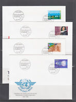 Switzerland Mi 1516/1535, 1994 issues, 9 complete sets in singles on 16 FDCs