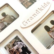 Quality Collage Photo Frame Holds Four Photos Grandchildren White Wood Effect
