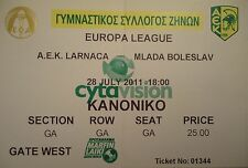 TICKET UEFA EL 2011/12 A.E.K. Larnaca - Mlada Boleslav