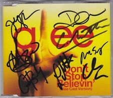 Don't Stop Believin' (Glee Cast Version) - CD Signed Aus. Single + Signed Poster