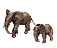 Elefanti Scultura Figura Animale Decorazione Africa Statua Giardino IN Bronzo