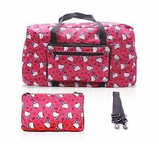 Finex Hello Kitty Foldable Travel Duffle Bag for airplanes luggage Random Pink
