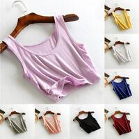 Women Summer Sleeveless T-Shirt Lady Tank Tops Cami Vest Crop Top Blouse