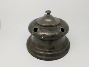 antique pewter ships inkwell-19th century possibly Georgian metalware