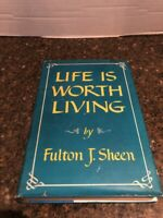 LIFE IS WORTH LIVING BY FULTON J. SHEEN 1953 HARDCOVER SECOND 2ND PRINTING
