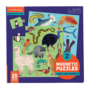 Magnetic Puzzle ~ Land & Sea Animals 2 x 20 pieces by Mudpuppy