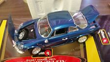 BBURAGO BLUE ALPINE 1971 METAL DIE CAST CAR STILL IN BOX 1:16 MADE IN ITALY