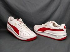 Puma GV Special Jr Casual Sneakers White Red Grade-School Boys Size 7 NWOB!