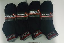 Unisex athletic sports socks 10-13 by dozen in black and grey on the top edge.