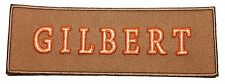 Ghostbusters GILBERT Name Tag Tan Embroidered Iron On Patch