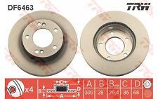 TRW Juego de 2 discos freno 300mm ventilado para SSANGYONG RODIUS TURISMO DF6463