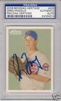 GREG MADDUX Chicago Cubs 2006 Bowman Signed Baseball Card PSA/DNA Cy Young
