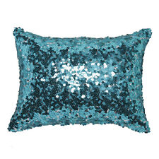 Logan & Mason Tivoli Aqua Blue Sequin Filled Brunch Cushion 30 X 40cm Ultima