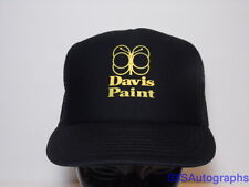 Rare Vintage 1980s DAVIS PAINT Kansas City ADVERTISING LOGO SNAPBACK HAT CAP