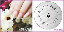 Konad Stamping Nail Art Design Image Plate M18 Letters