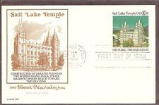 US SC # UX83 Salt Lake Temple FDC Postal Card. Fleetwood Cachet