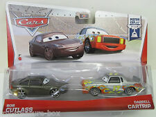 "Disney PIXAR Cars ""Piston Cup"" Bob Cutlass & Darrell Cartrip Die Cast Cars"