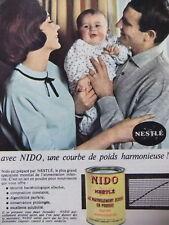PUBLICITÉ NESTLÉ NIDO UNE COURBE DE POIDS HARMONIEUSE