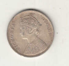 1862 british india queen victoria one rupee silver coin with 4 dots.