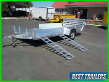 aluma 8114 SR 7 x 14  double atv trailer side load utv aluminum utility w sides