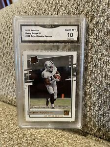 2020 Panini Donruss Henry Ruggs III Rated Rookie Canvas Graded 10