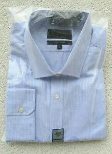 Marks & Spencer hellblaues Hemd aus reiner Baumwolle Tailored Fit Kragen 19 in