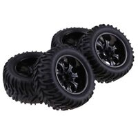 "4pcs 103mm Rubber Tires w/ 1.9"" Replace Wheel Rim for 1/10 RC Crawler Car F"