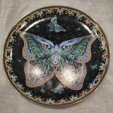"New ListingBradford Exchange ""Emerald Elegance - Enchanted Wings"" Butterfly Plate"