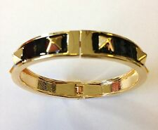 Mikey London Black & Gold Stud Bracelet, Bangle Ladies, Brand New Fashion