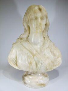 Antique French alabaster bust # AR362