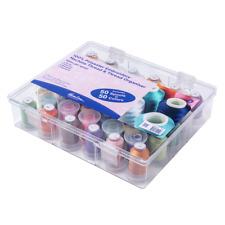 Hemline Hilo caja y Organizador Almacenamiento COMPLETO with 50 Carretes de hilo