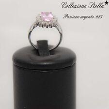 ANELLO ARGENTO CON PIETRE NATURALI quarzo rosa Perfetto regalo di San Valentino