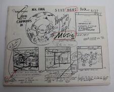 "ALVIN & THE CHIPMUNKS / 1986 TV Series Storyboards Script ""Hooping It Up"""