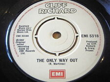 "Cliff Richard-The only way out 7"" vinyl"