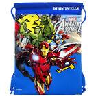 Avengers Marvel Blue Drawstring Bag School Backpack
