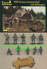 1:72 FIGUREN H095 WWII GERMAN COMMAND STAFF WITH KÜBELWAGEN - CAESAR