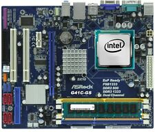 CPU PROCESSORE INTEL CORE DUO 2 E8400 + SCHEDA MADRE G41C-GS 775 + 4GB RAM DDR3