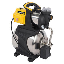 Powerplus Druckpumpe 1200 Watt Wasserpumpe Frischwasser - 3800 l/h Inox Tank