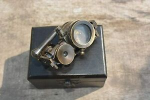 Articulated Brass Monocular Antique Style Pocket Monocular With Wooden Box